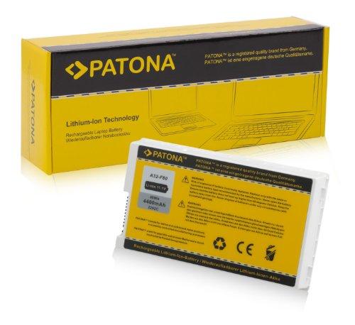 PATONA Batterie adapté pour Laptop/Notebook ASUS X61, X61GX, X61S, X61SL, X61W, X61Z, F80, F80A, F80H, F81, F83, X85, X85L, X85S, X85SE, X85C, X80, X82, X88 Li-ION, 4400mAh, Blanc