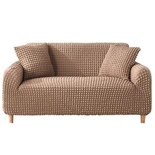 NOBCE Funda de sofá elástica Fundas elásticas Funda de sofá Todo Incluido para sofá de Diferentes Formas Funda de sofá Estilo L Marrón 90-140CM