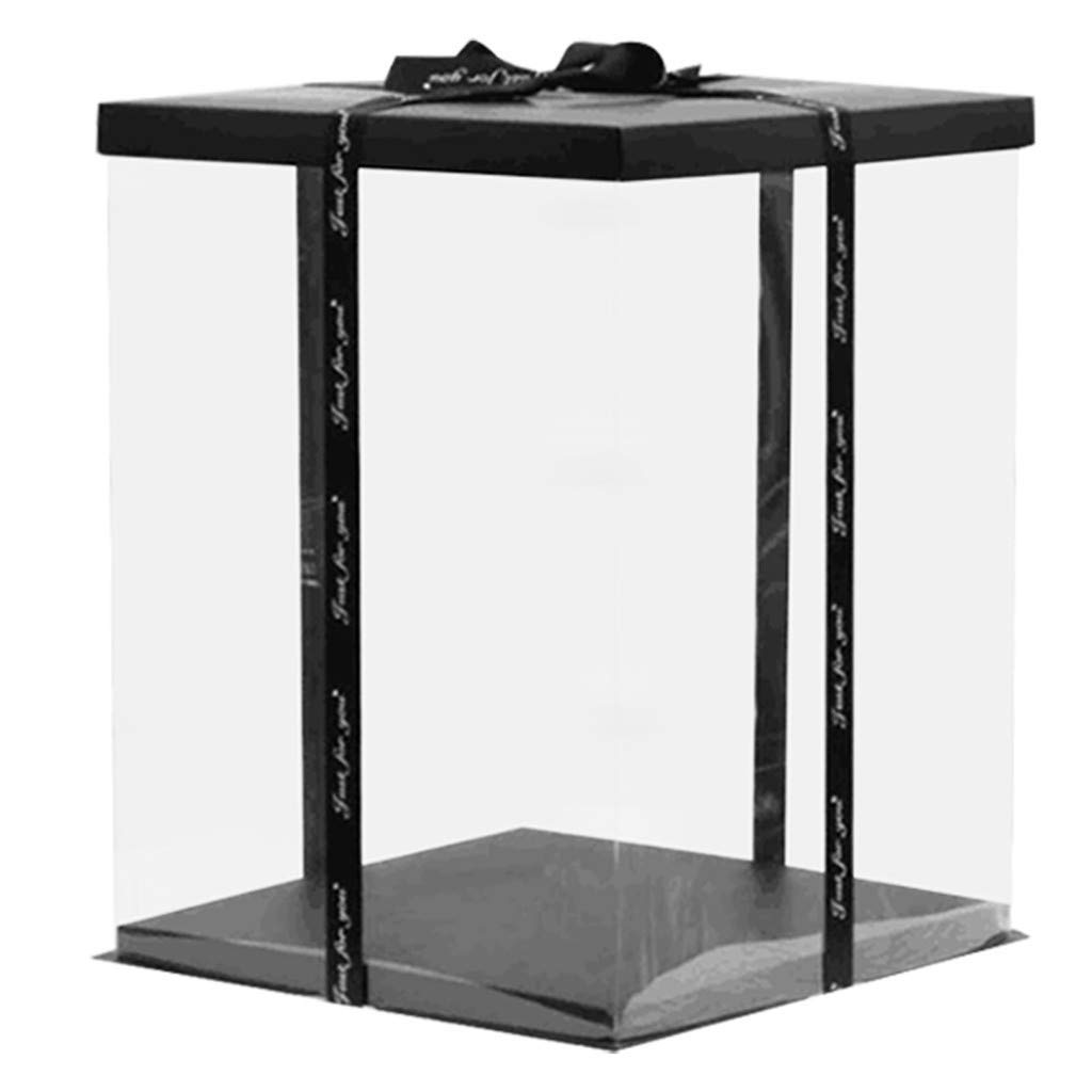 OKEYsoe - Caja para Tartas (30 x 40 cm, PVC), Transparente: Amazon.es: Coche y moto