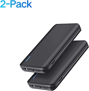 Portable Charger, ?2-Pack? Ultra-Slim 5V/2.1A 5000mAh Power Bank External Battery Backup Pack, Mini-Sized with Light Compatible with iPhone 11 Pro,11 Pro MAX,11,XS MAX,XS,XR,X,8 Plus,8