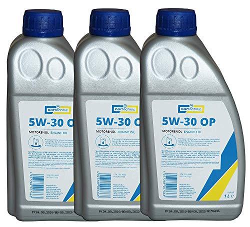 6 x cartechnic Motorenöl SAE 5W-30 OP 1Liter, Motoröl 5w30