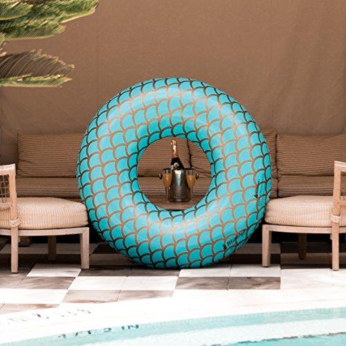Mimosa Inc Mermaid Inflatable Premium Quality Giant Round Tube Pool Float
