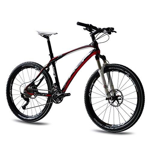 Bicicleta de montaña prémium de 26 pulgadas KCP Carbon con 30 G DEORE XT & Rockshox SOLO AIR