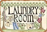 OSONA Laundry Room Retro nostálgico arte tradicional color óxido logotipo de lata publicidad llamativa decoración de la pared regalo
