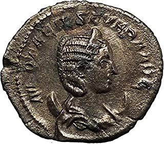 244 IT Otacilia Severa 244AD AR Ancient Roman Coin Conc coin Good