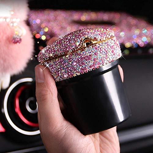Sooiy Crystal Sparkled Diamond Auto Aschenbecher mit LED-Licht Zigarre Aschenbecherhalter Rauch Aschenbecher Cup Holder Lagerung Autozubehör Ashtrays