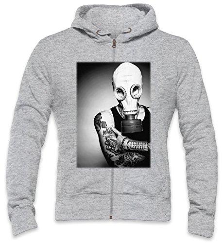 Inked Tattoo Gas Mask Boy Mens Zipper Hoodie XX-Large