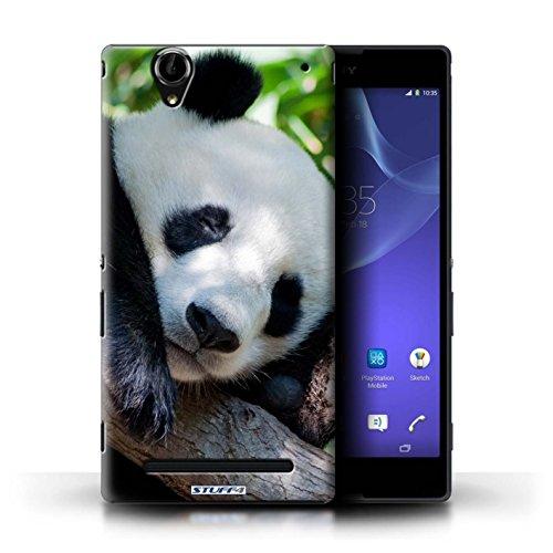 Hülle Für Sony Xperia T2 Ultra Wilde Tiere Pandabär Design Transparent Ultra Dünn Klar Hart Schutz Handyhülle Hülle