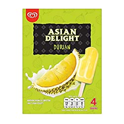Wall's Asian Delight Thai Durian Multipack Ice Cream, 260ml (Pack of 4) - Frozen