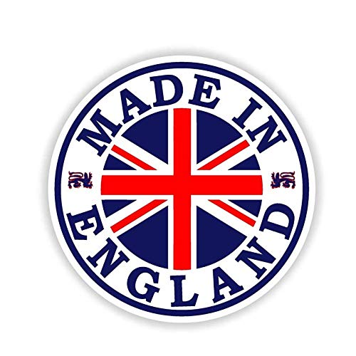 Made In England Car Bumper Window Wall Maleta Decal Sticker Decals Diy Decor(Juego De 2)