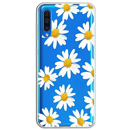 ESRB - Carcasa para Huawei A50 (TPU, silicona, blanda, para regalo), diseño de flores, ultrafina, antideslizante 8 M