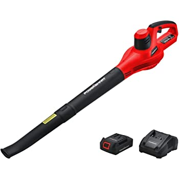 PowerSmart Leaf Blower, 20V MAX Lithium-Ion Cordless Leaf Blower with 117 MPH Output, Electric Blower, Battery Powered Air Blower, Lightweight & Portable, 1.5 Ah Battery & Charger Included, PS76101A