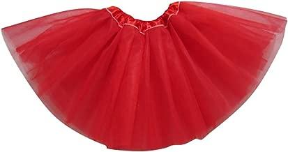 YouPue Bambini Ragazza Principessa Tutu Gonne Balletto Gonna 3 Strati Sottoveste Petticoat tut/ù di Tulle Gonna Rosso