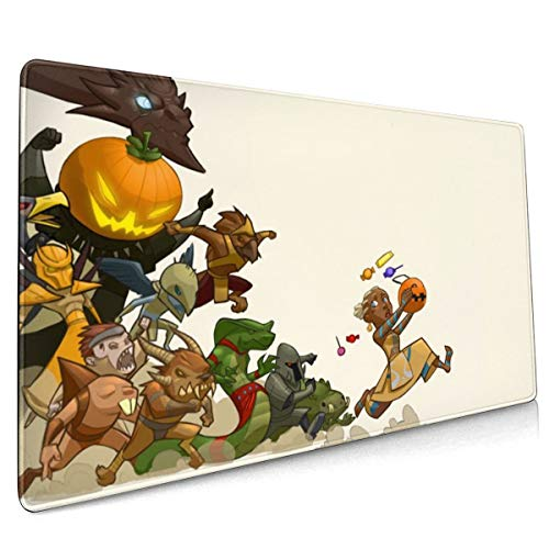 Game Pumpkin Guild Wars Trilogy Halloween Mouse Pad Rectangle Non-Slip Rubber Electronic Sports Oversized Large Mousepad Gaming Dedicated,for Laptop Computer & PC 15.8X35.4 Inch