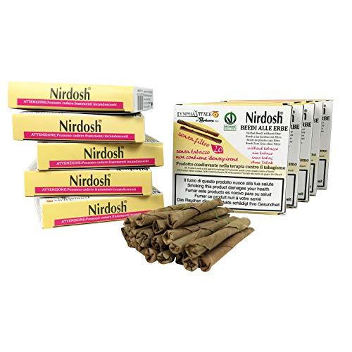 Nirdosh - Zigaretten mit Kräutern, um mit dem Rauchen aufzuhören - 10 Packungen Zigaretten mit ayurvedischen Kräutern - Frei von Nikotin, Tabak, Papier - OHNE Filter - Medizinprodukt