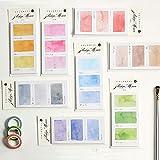 Max Corner Water Color Sticky Note, Post Memo Planner Self...