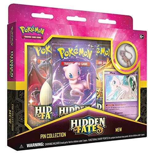 Pokemon SM11.5 Hidden Fates Pin Collection- Mew, Multicolor