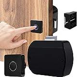 Fingerprint Cabinet Door Lock,Smart Electronic Biometric Rechargeable Lock for File Cabinet Drawer, Hidden Lock for Home & Office Smart Furniture