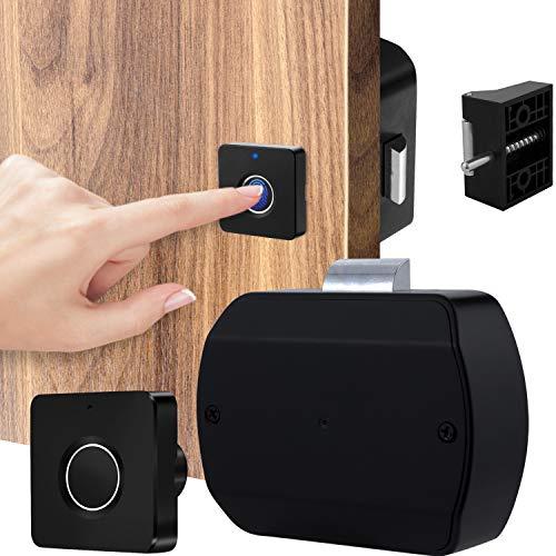 Fingerprint Cabinet Door Lock,Smart Electronic Biometric Rechargeable Lock...