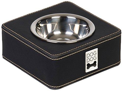 Dogdog Écuelle Quadratique pour Chien Noir Taille M