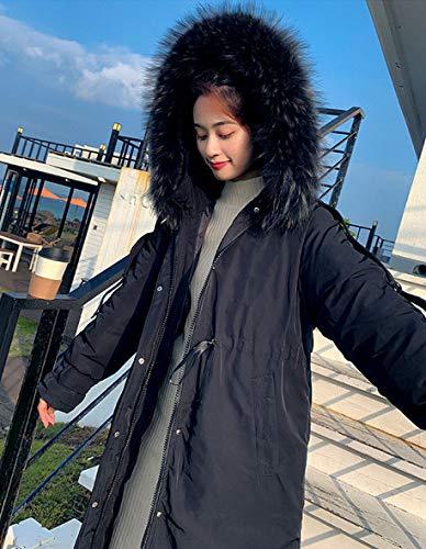 ZTBXQ Hausgarten einzigartige Geschenke Daunenjacke Frauen Langmantel Jacke Winter Frauen Langschnitt Wärme Verdickung Anti-Falten Atmungsaktiv Lose Große Pelzkragen Rock Ärmel Modedesign