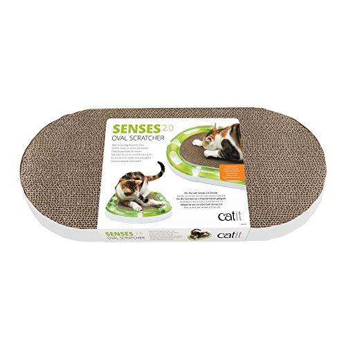 Catit Senses 2.0 Katzenkratzer, oval, interaktives Katzenspielzeug