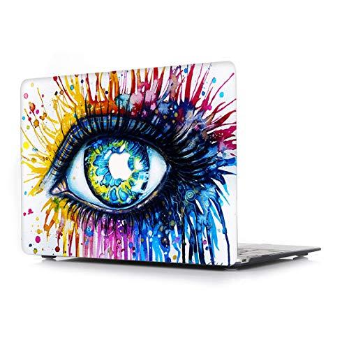 L2W Funda Dura para MacBook Air 13 Pulgadas (Old) Modelo A1466/A1369 Portátiles Accesorios Plástico Imprimir Rígida Diseño Creativo Cover Protección Carcasa,Los Ojos