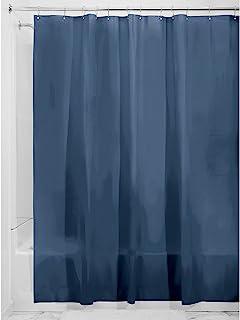 "InterDesign PEVA 3 Gauge Shower Curtain Liner - Mold/Mildew Resistant, PVC Free - Navy, 72"" x 72"""