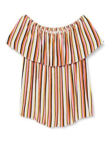 TOM TAILOR MY TRUE ME Damen Blusen, Shirts & Hemden Gestreifte Carmen-Bluse mutlicolor Stripe,46