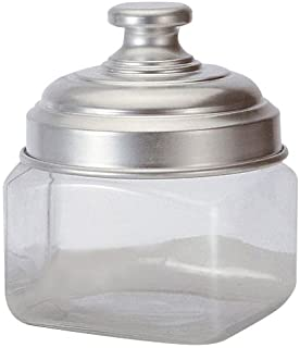 Ottinetti Square Glass Storage Jar with Hermetic Lid, 0.5 L