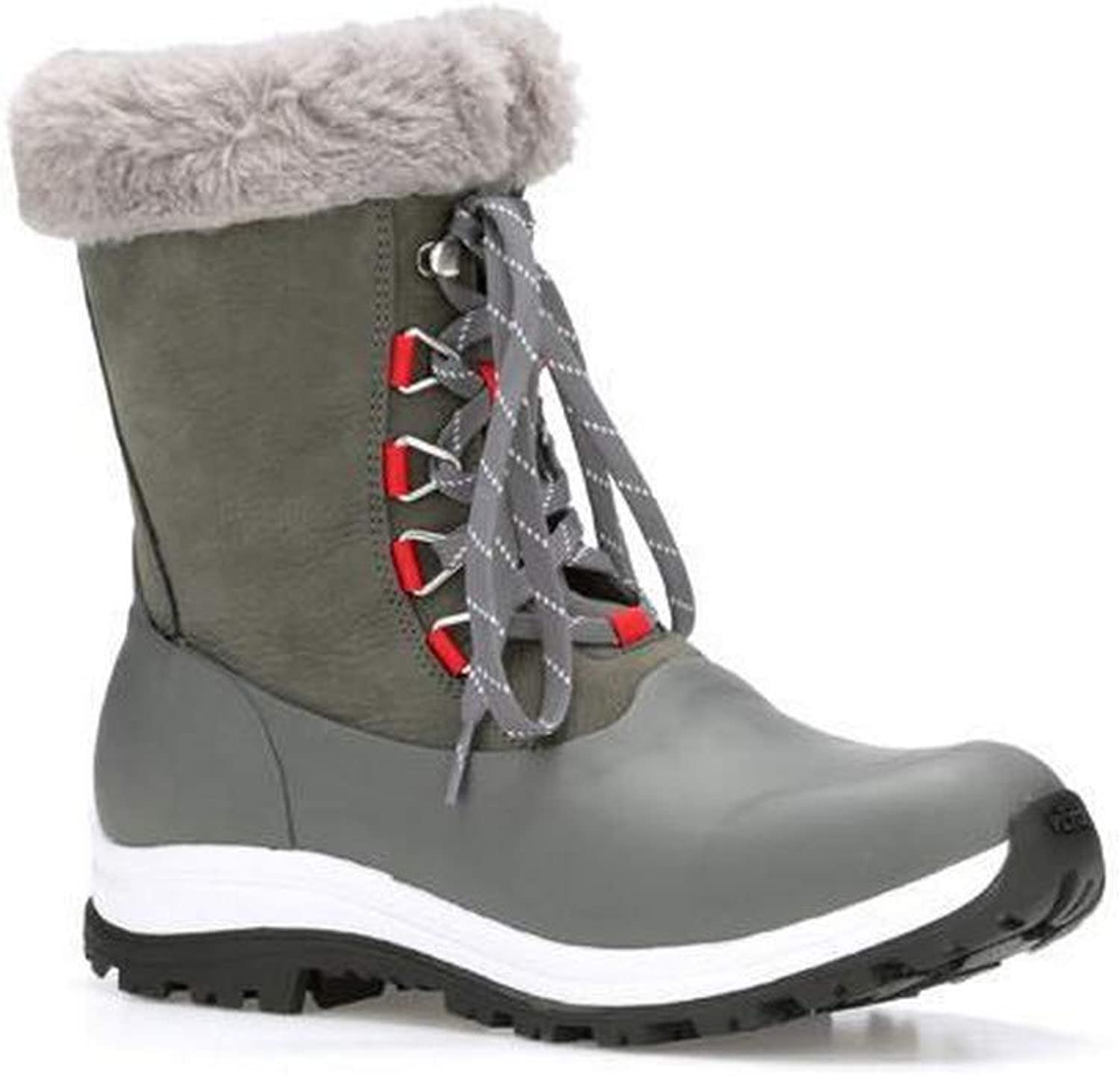 Muck Boots Womens Ladies Apres Leather Lace Up Mid Boot