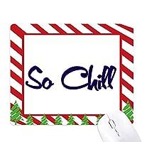 スタイリッシュな冷えるので、とてもクール ゴムクリスマスキャンディマウスパッド