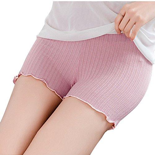 FRAUIT damesonderbroek, strepen, gebreid, naadloos, veiligheidsbroek, korrelvormend ondergoed, ademend, shapewear met pijpen