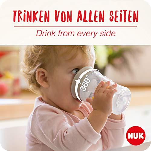 NUK Magic Cup Bicchiere Antigoccia, Bordo Anti-Rovesciamento a 360°, 8+ Mesi, Senza BPA, 230 ml, Disney Frozen Elsa e Olaf
