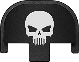 BASTION Laser Engraved Rear Cover Slide Back Plate for Smith & Wesson SD9VE, SD9, SD40VE, SD40. 9mm & .40 Cal Skull