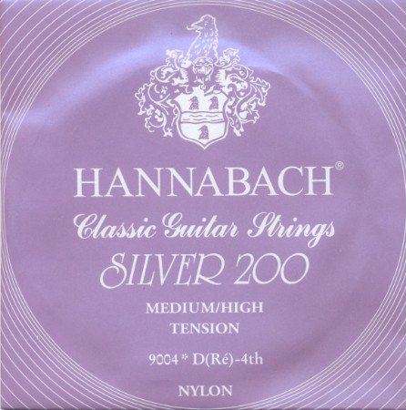 Hannabach 9004 - Silver 200 - d4 Konzertgitarre, medium/high