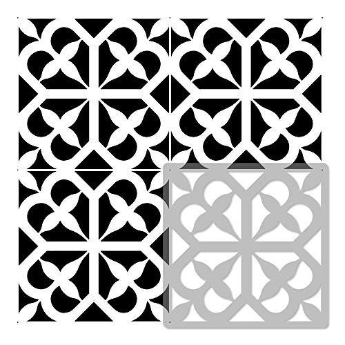 AVOLA Azulejo reutilizable PLÁSTICO Plantilla // Geométrico marroquí // Suelo Pared (33x33cm)