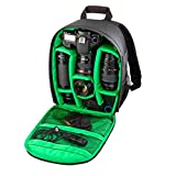 Tongshi Mochila 1PC bolso de la cámara réflex digital Caso impermeable para Canon para Nikon para Sony(verde)