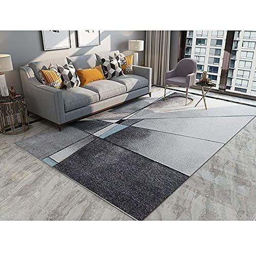 Teppiche Teppich Indoor Wohnzimmer Schlafzimmer Einrichtungsgegenst?nde Seidig Seidiger Teppich Licht Luxus Einfach Nordisch Modern Abstrakter Bedruckter Bettkopf (Gr??e:200 * 250) ( Color : 200*250 )
