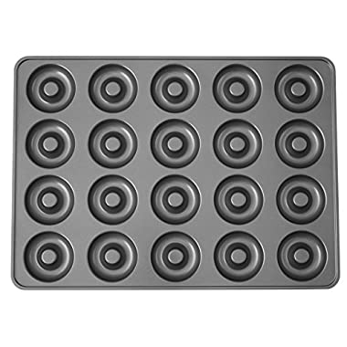 Wilton Perfect Results Non-Stick Donut Pan, 20-Cavity Donut Baking Pan 2105-1808 MEGA, Color