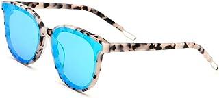 f59e9b1417 Lxc Placa Ojo De Gato Gafas De Sol Mujer Leopardo Marco Azul Lente UV400  Protección Mostrar