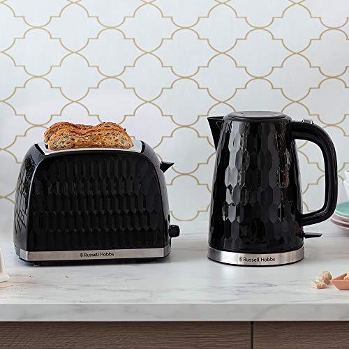 51rlc3rEgGL. SS500  - Russell Hobbs 26051 Cordless Electric Kettle - Contemporary Honeycomb Design with Fast Boil and Boil Dry Protection, 1.7…