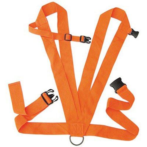 Allen Dual Harness Deer Drag with Rope, Blaze Orange