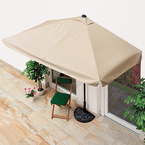 EASYmaxx Sonnenschirm 'Balkon/Terasse rechteckig' | Lässt Sich passgenau an der Wand platzieren | Mit praktischer Handkurbel, UV-Schutz 40+ | 230 x 140 cm [Sommerliches Beige]