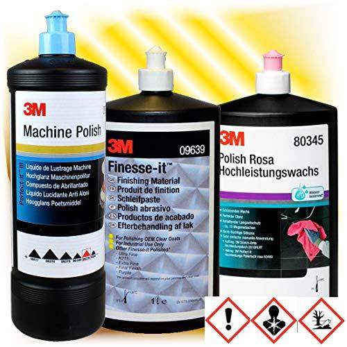 hai-tecs 3M Schleifpaste Politur Polish Rosa Wachs 09639 09376 80345 Set 52