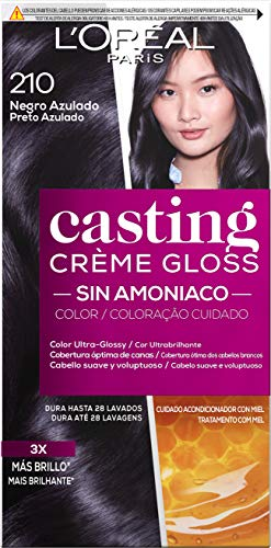 L'óreal Casting Creme Gloss Tinture per capelli, 210 nero blu, 600 gr