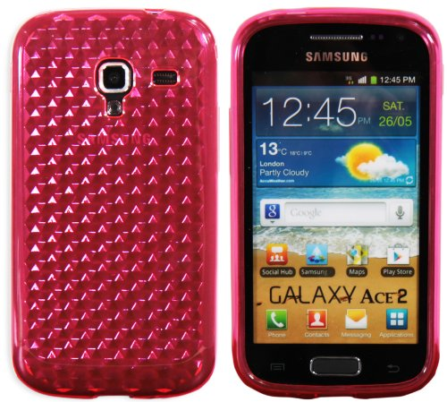 Luxburg® Diamond Design custodia Cover per Samsung Galaxy Ace 2 GT-I8160 colore rosa quarzo, custodia in silicone TPU
