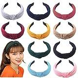 10Pcs de Pelo Anchas Diadema de Nudo Bandas de Pelo Para la Cabeza Turbantes para Mujer Diadema Para Mujer Chica Niña Accesorio de Pelo 10 Colores Variados