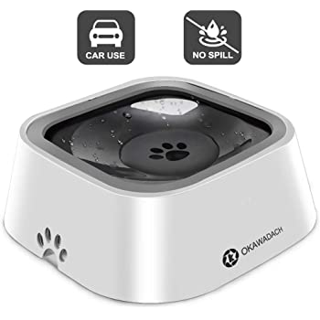 OKAWADACH Dog Water Bowl, Dog Bowl Slow Water Feeder Dog Bowl No-Spill Pet Water Bowl for Dogs and Cats
