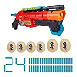 XShot Dino Attack Claw Hunter Foam Dart Blaster (24 Darts, 4 Eggs) by ZURU (4867)